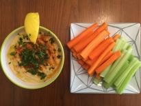 Hummus et crudite