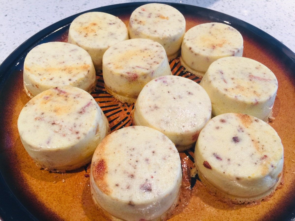 Red Pepper, Bacon and Swiss Keto Egg Bites